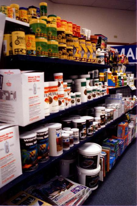 Food and Filter Media in a Store Display