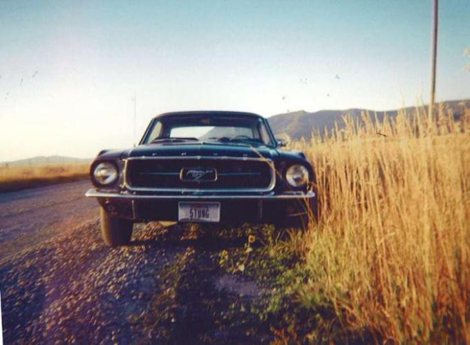 Front-on '67 Mustang