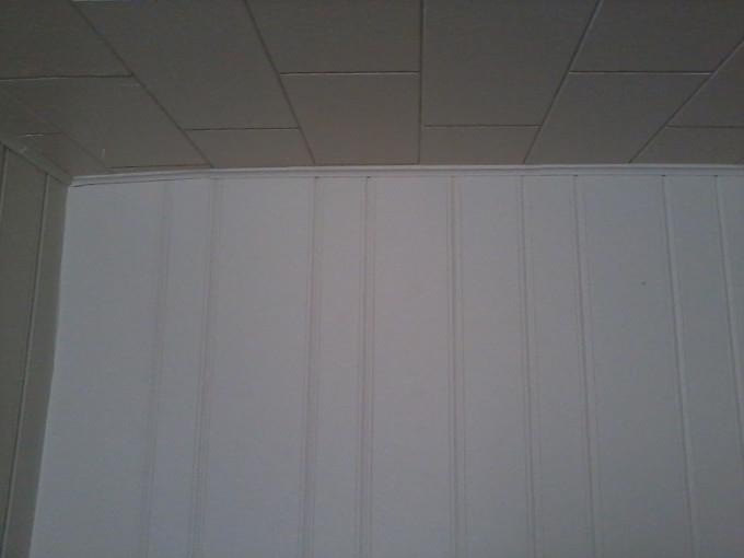 Living room northwest ceiling