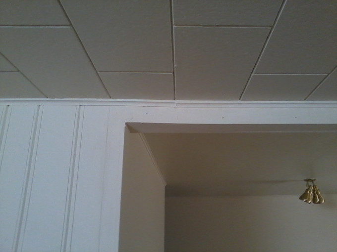Living room north ceiling