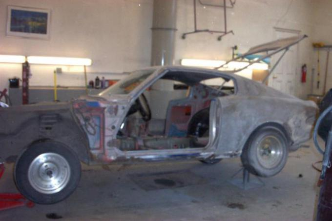 My Celica Stripped Down and Ready for Restoration